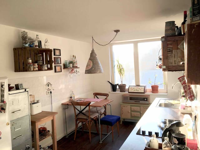 ** Privat cosy and quit room, kitchen and bath **