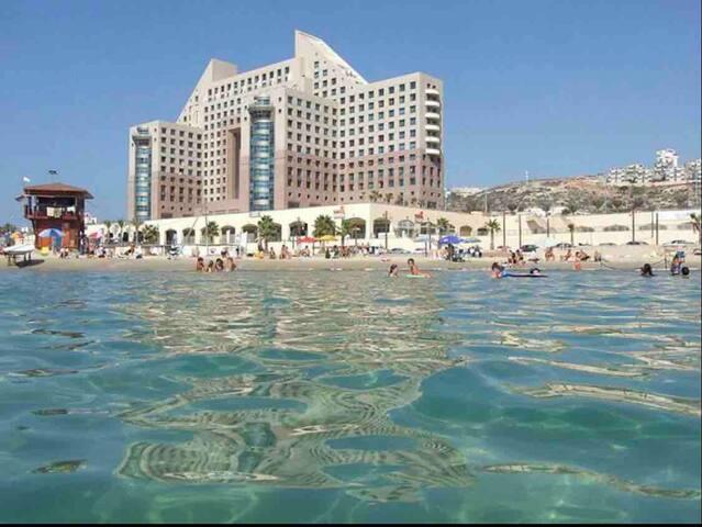 Beachside ApartHotel in Haifa.