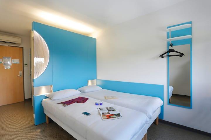 Chambre Twin ,deux lits jumeaux séparés