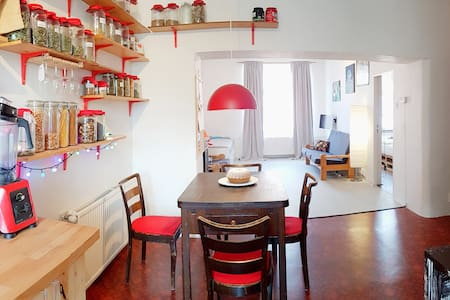 Large, fully equipped apartment with garden