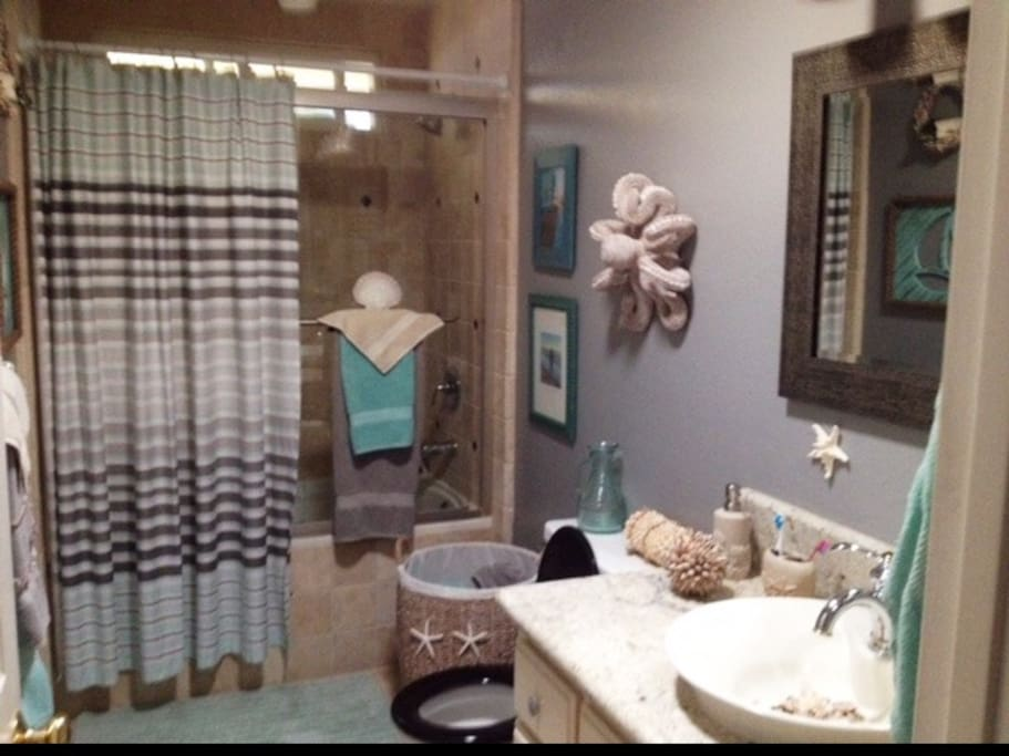 Newly remodeled private bath ,new towels as well