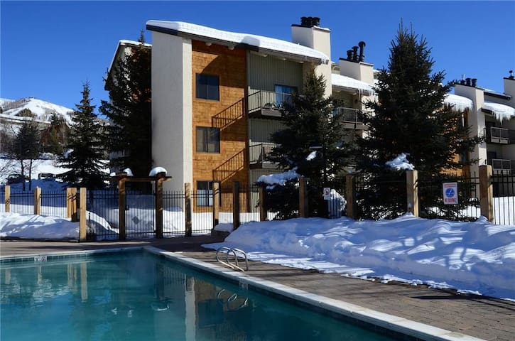 Cozy 2/2 condo walk to hot tub, pool & ski gondola