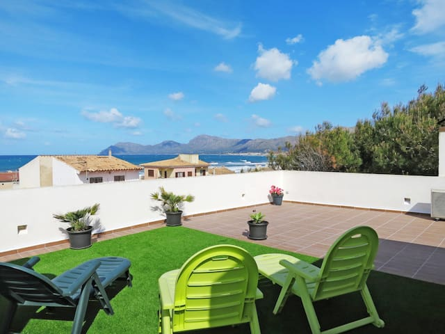 Holiday apartment with terrace in Son Serra de Marina