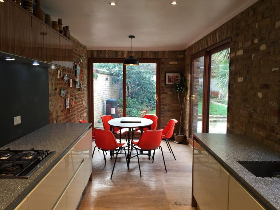 Big roomy kitchen to relax and enjoy good food and weather
