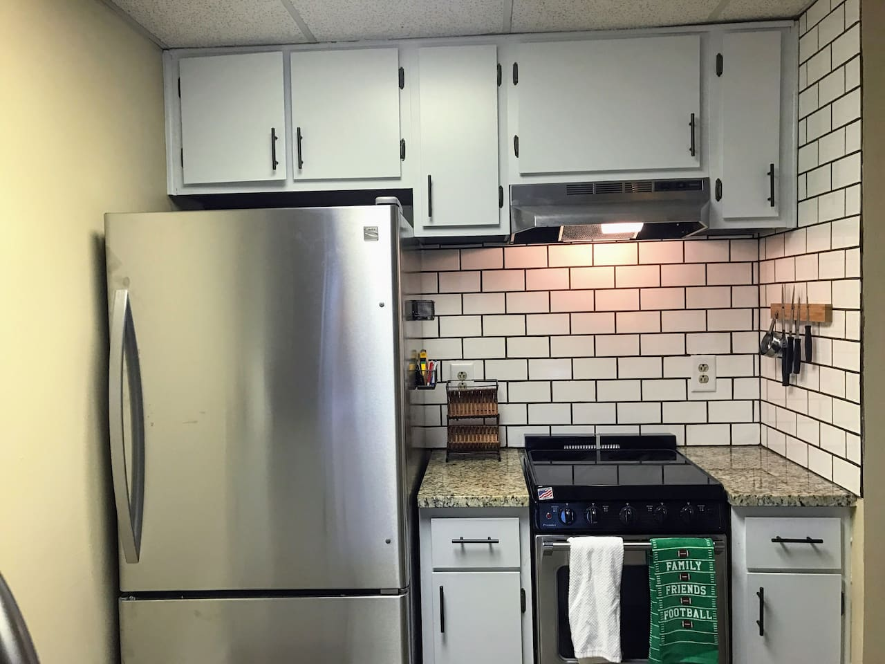 Brand new Stainless steal  appliances Granite, Backsplash, dishes and everything else.