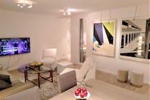 Livingroom with smart-tv