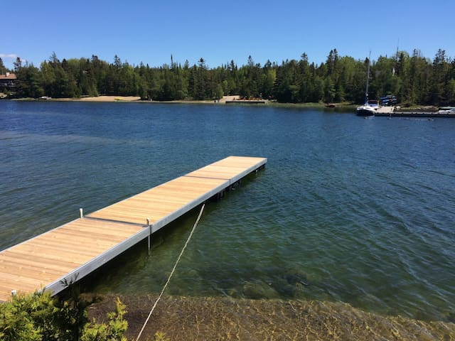 Our new floating dock