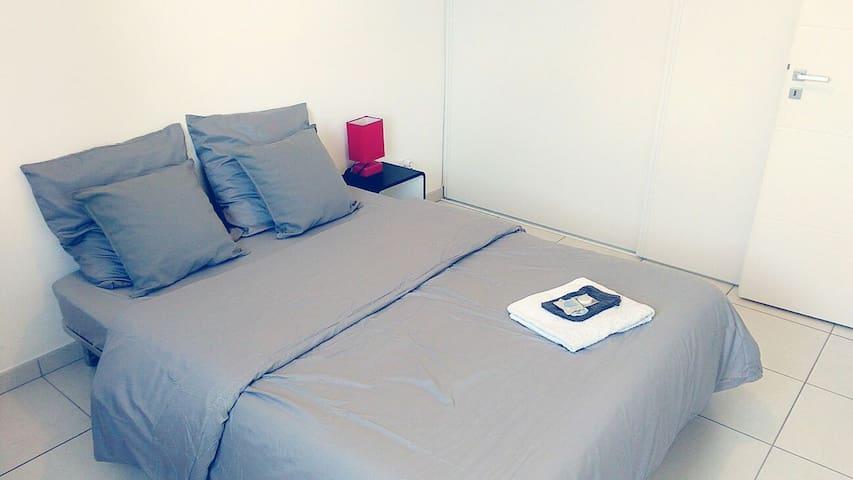 Chambre privée, café & wifi - Bourg-lès-Valence - Apartament