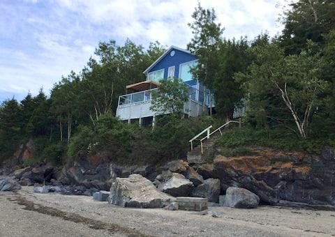Chalet maison vue sur mer fleuve Trois-Pistoles