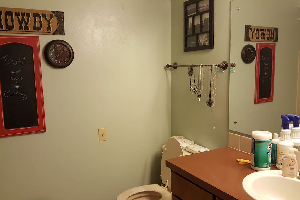 Bathroom across the hallway