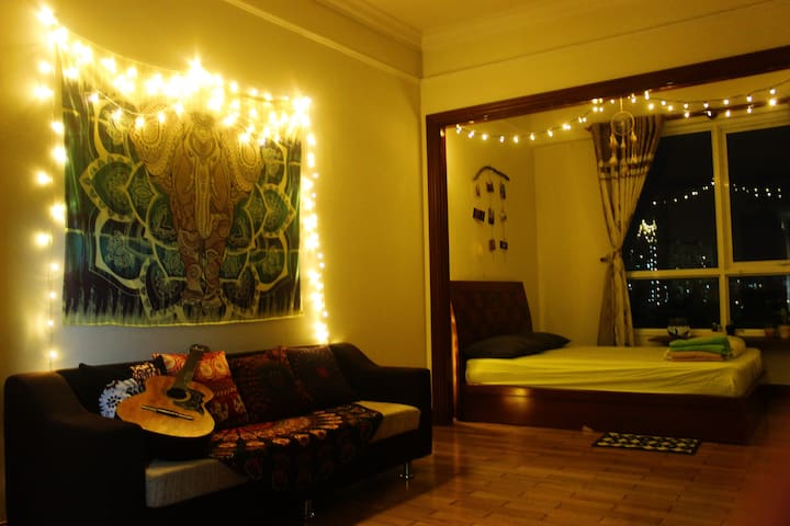 Studio near center + Free ROOFTOP pool + kitchen - Ho Chi Minh - Pis