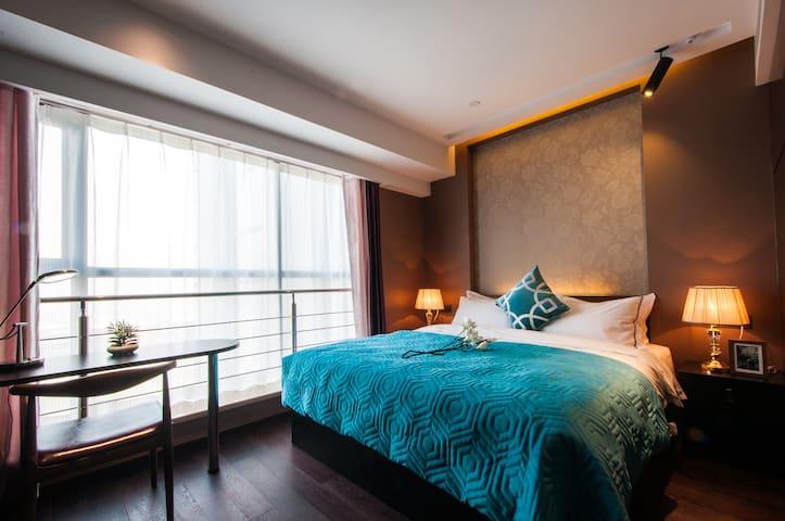 鸟瞰长风商务区北欧空净无霾房 - Taiyuan - Apartment