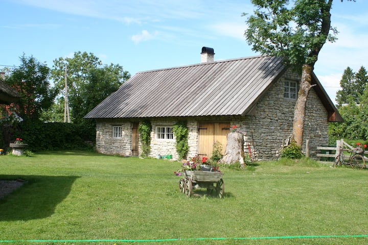 A stone house in Saaremaa style country setting
