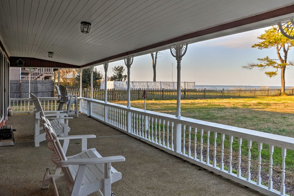 Take in the scenic ocean views from the covered patio!