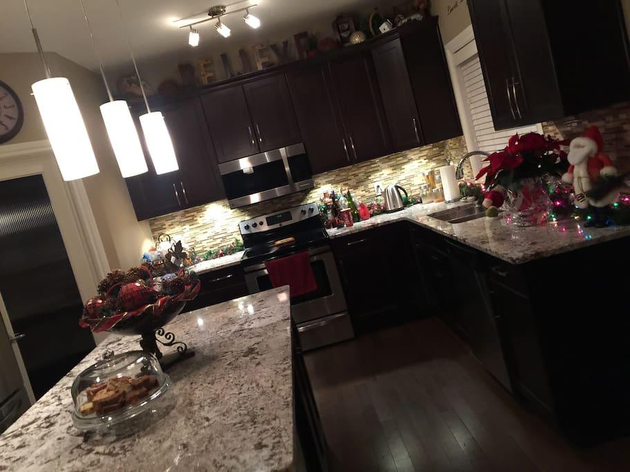 Kitchen use if arranged