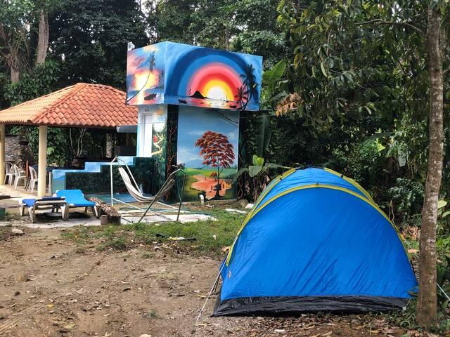 Camping close to Playa Dorada Beach