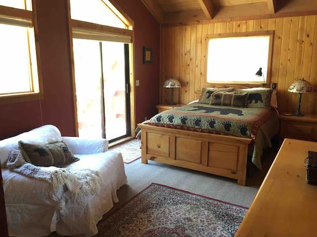 Upper Master Bedroom with deck