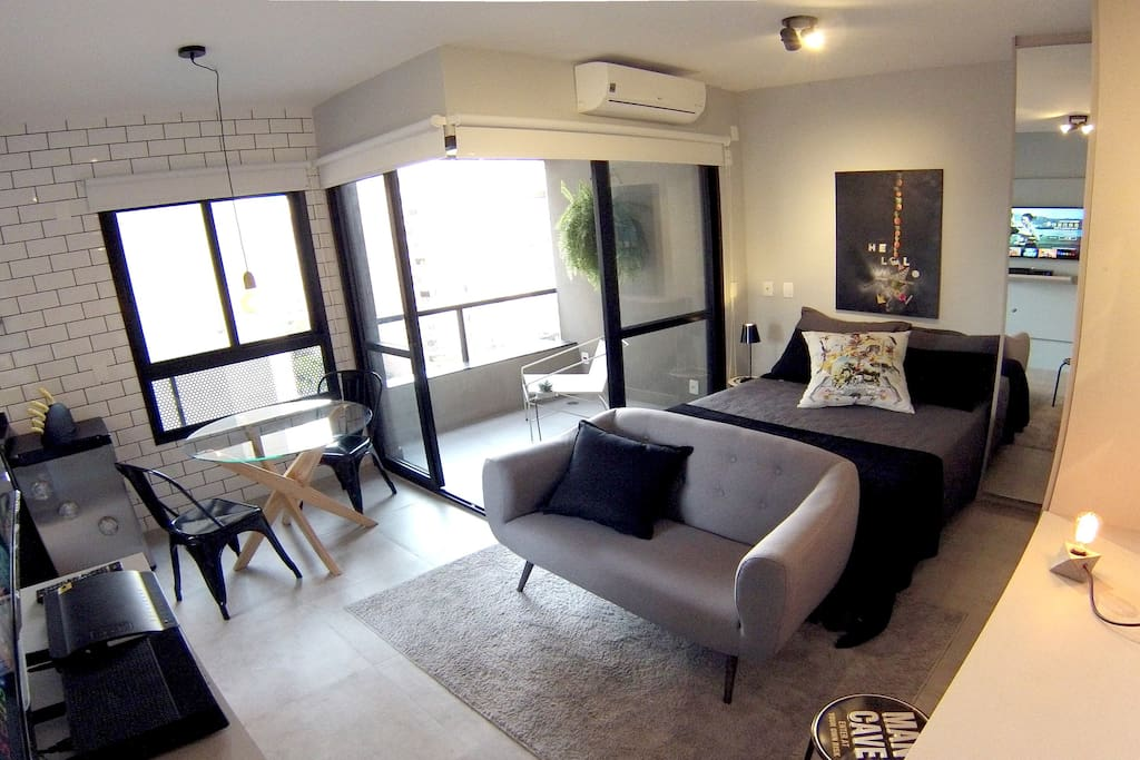 apartamento completo, com ar condicionado (complete apartment with air conditioning)