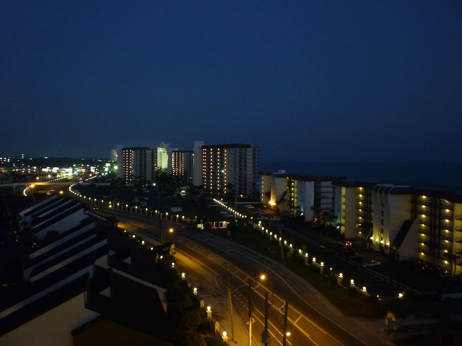 Night view from balcony.