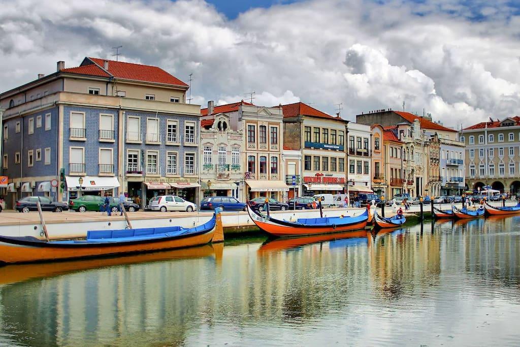 Barcos moliceiros em Aveiro