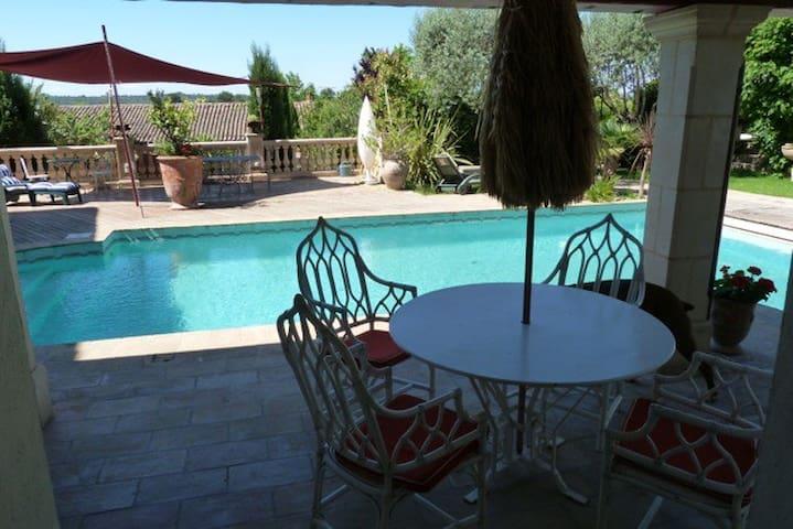 Les Pieds dans l'Eau, pour 4 p. sur piscine - Plaissan - House