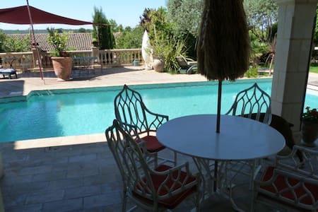 Les Pieds dans l'Eau, pour 4 p. sur piscine - Plaissan - Haus