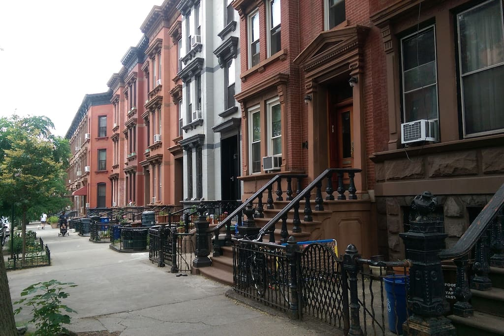 Beautiful and quite brownstone street