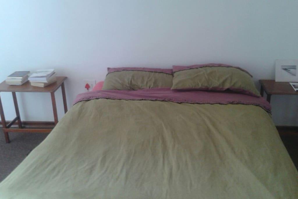 Main bedroom bed