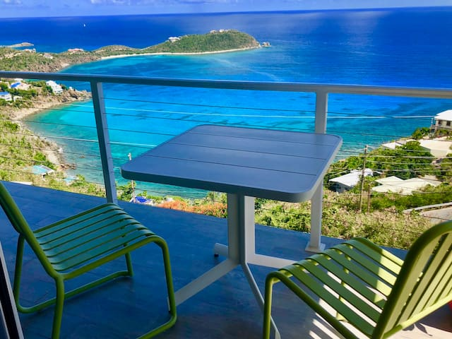 Always a wonderful view of Rendezvous Bay from your private porch.