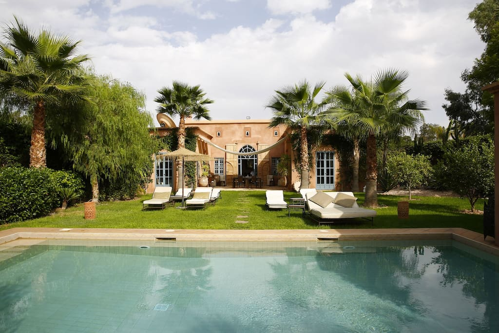 View of the villa from the swimming pool