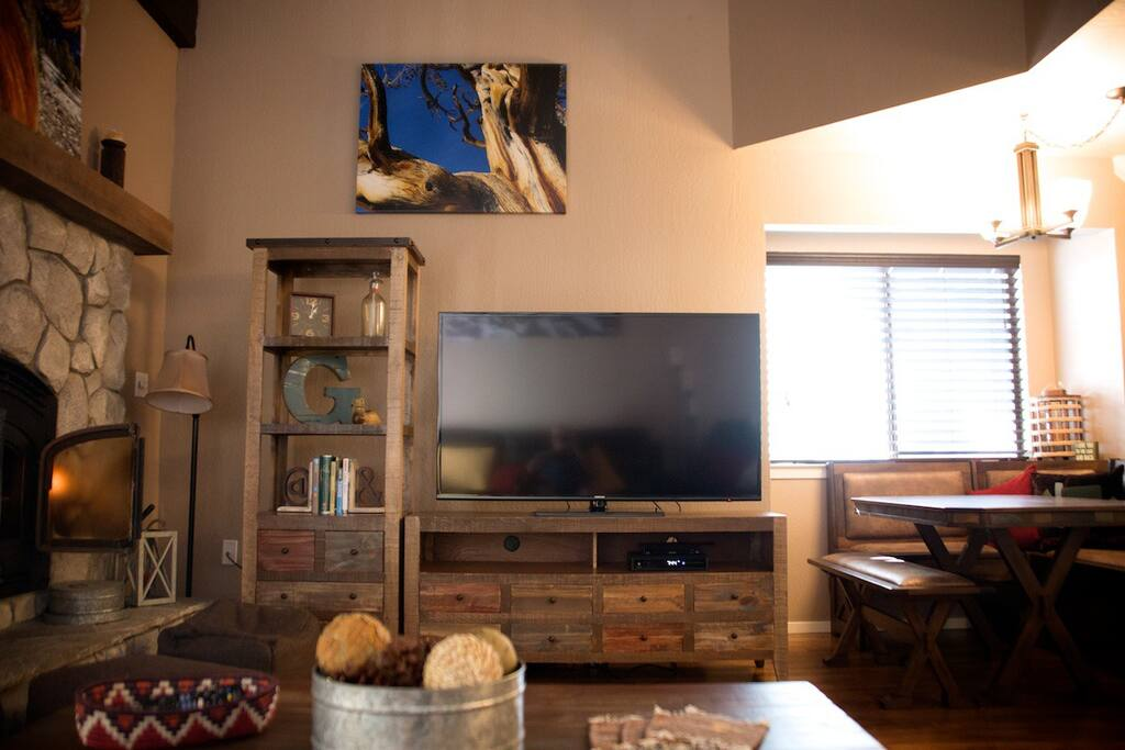 Large 60 inch plasma Smart TV