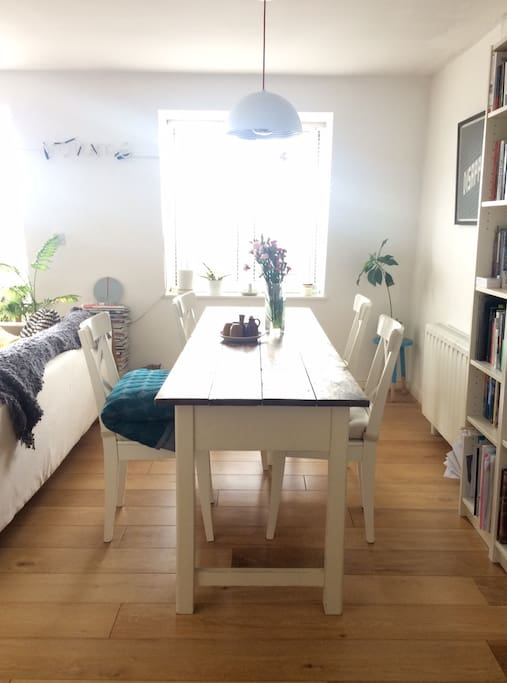 Family farmhouse table; perfect for a night in.