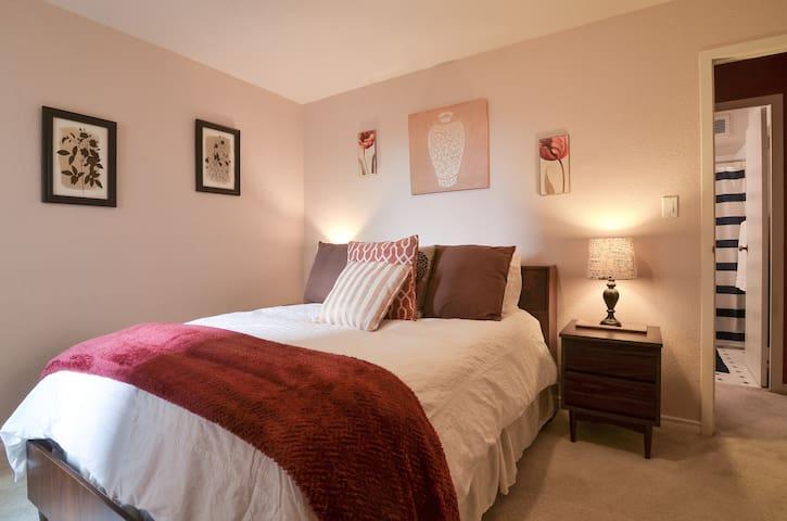 comfy queen-size bed