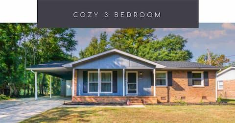 Cozy -3 bedroom, 4min from Ft Bragg & I-295