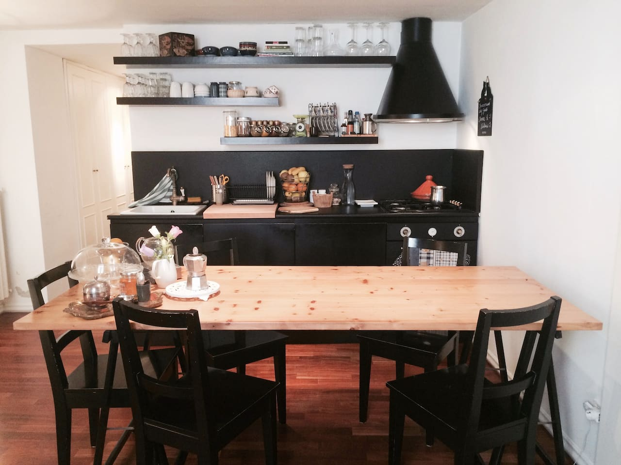 The kitchen is a shared area