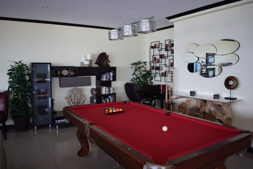 Pool table, wall unit and corner desk