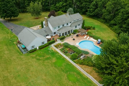 32 acre secluded estate w/ private heated  pool