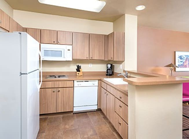 Kitchen configuration may vary as room is assigned at check in