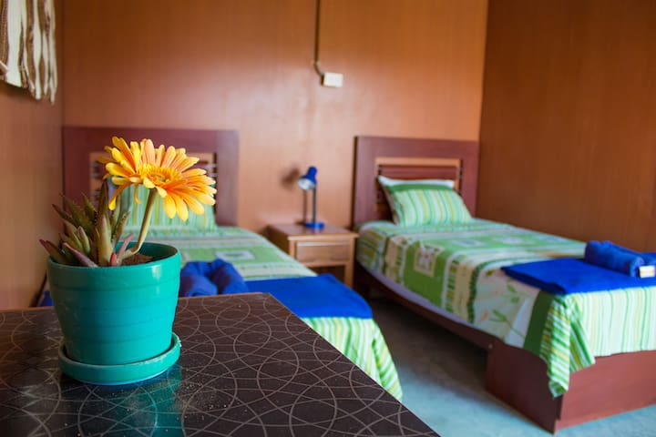 Double twin room in Paracas Camp - Las Antillas de Paracas - Bed & Breakfast