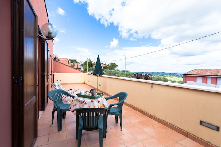 Flat with sea-view in Montefiore, Rimini Riviera