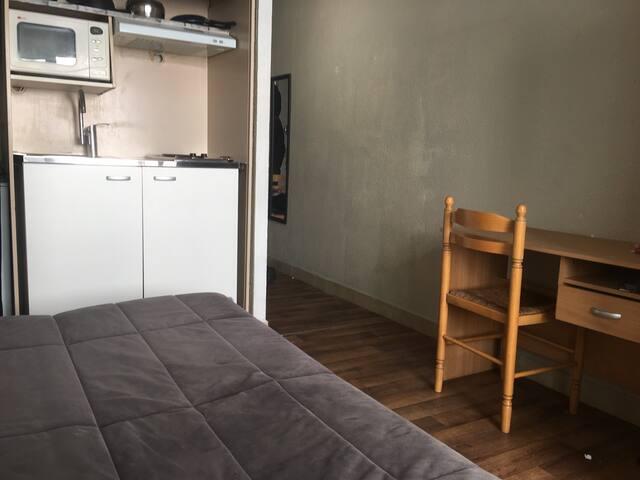Appartement avec balcon 17m2 proche arrêt tramway