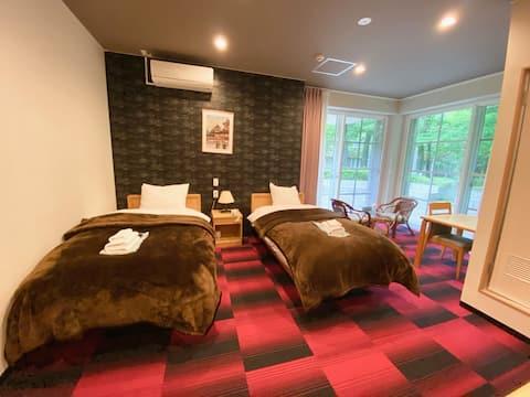 素泊、日式传统旅馆/疗愈之旅/洋室双人房