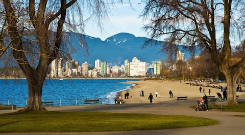 Only a 6 min. walk to Kits Beach.