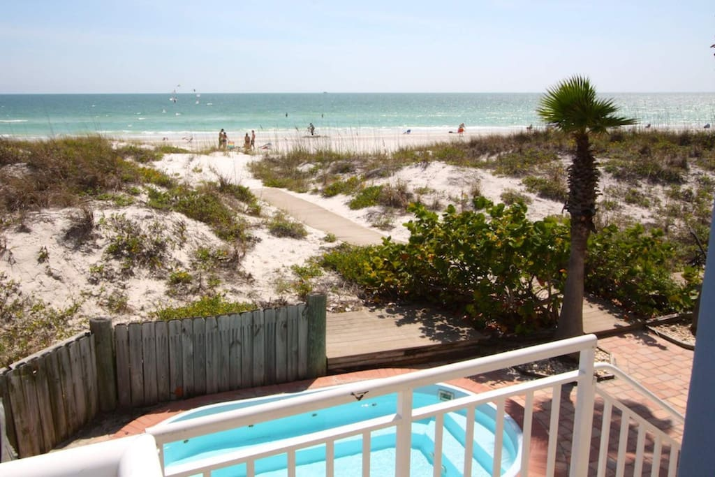 Private path leading to one of the best sections of Madeira Beach