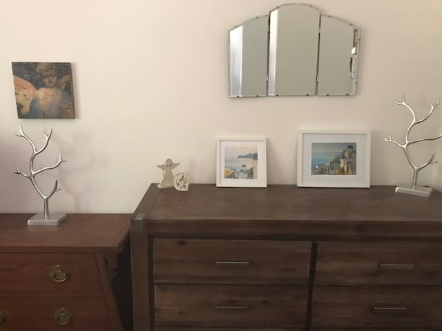 Drawers and hanging space for your own use