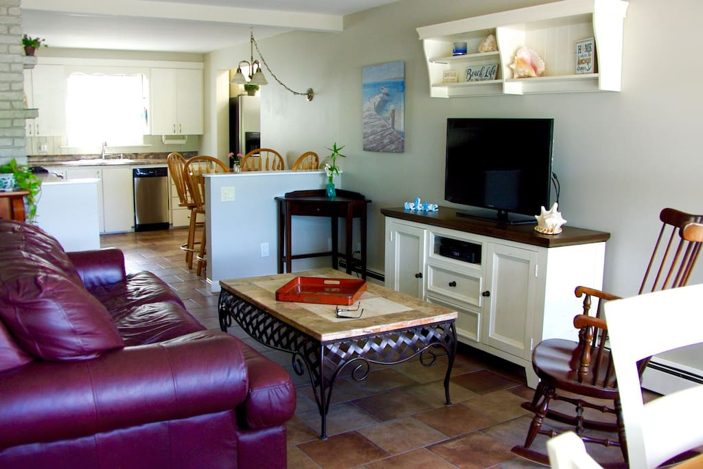 Relax in the living room with cable television