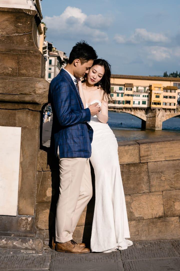Engagement Asian gorgeous couple