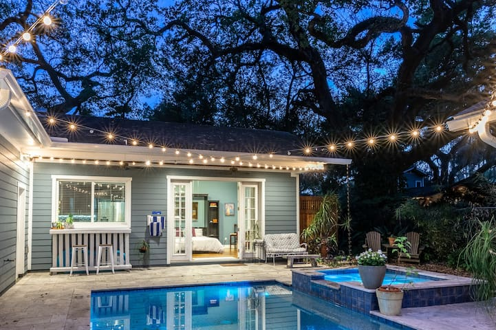 Eco Friendly Backyard Bungalow w/ Pool Downtown