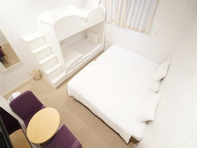 3 mins on foot from Ichikawa Shiohama Station♪/Good location/With Free WiFi/Family Room