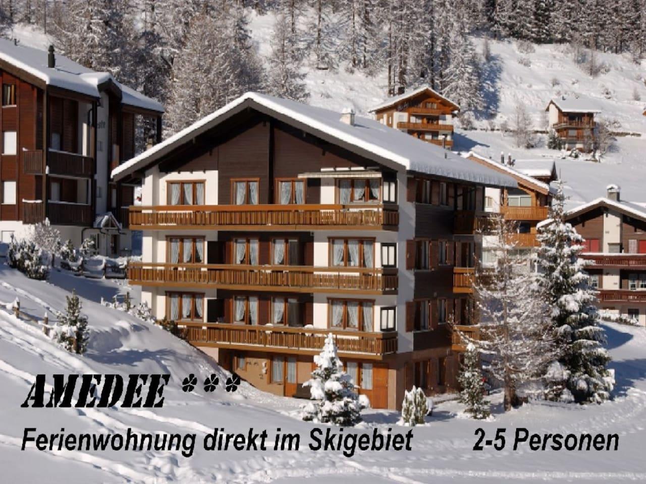 Amedee, direkt im Skigebiet